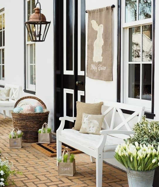 30 Cool Easter Porch Décor Ideas