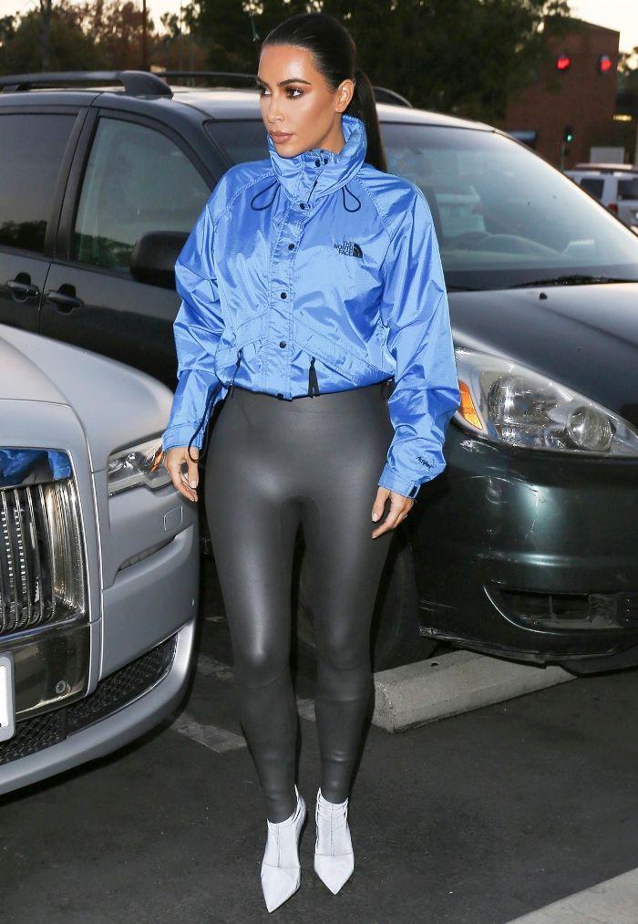 Kim Kardashian and Emily Ratajkowski Wore North Face Jackets