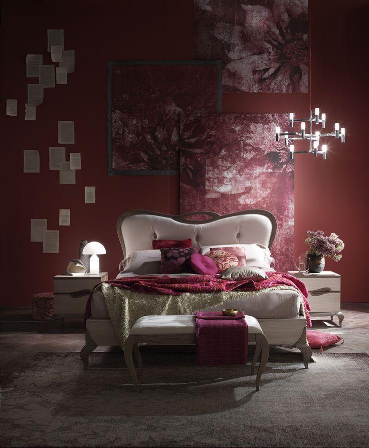 #letto #camera #zonanotte #comfort #funzionale #tradizionale #legno #mobile #armadio #fasolin #arredamento Camera da letto Fasolin.Modello Trèsor Notte