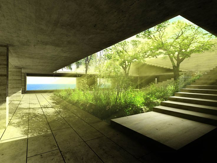 courtyard at CASA VERA | Veracruz by Alberto Kalach