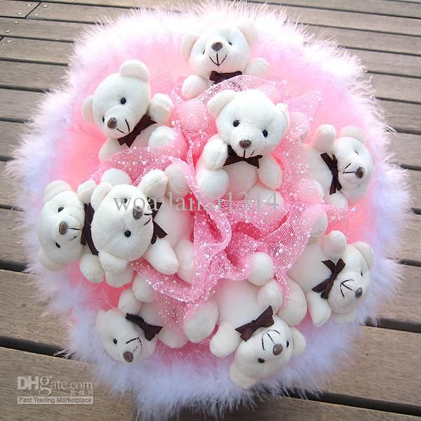 Bouquet Wedding Flowers Teddy Bear Bouquet Gift Bouquet Toy ...
