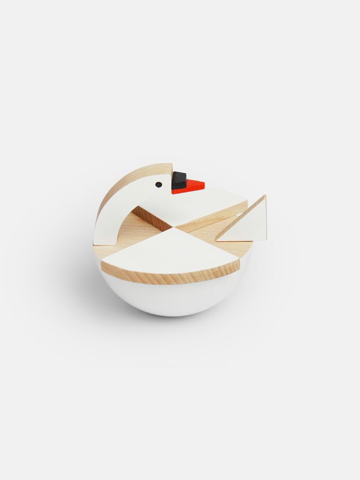 White swan Labu is a beautiful wooden toy for story time and decoration. You can rotate the head and the swan swings merrily. Sweet wooden toy bird by Kutulu, a team of designers dedicated to reviving traditional Czech wooden toys, combining old world craftsmanship with beautiful contemporary design and sustainable practices. These friendly animal toys are made for story telling and imagination. 11 x 10 x 12 cm Solid beech wood, painted swivel head with hidden brass fitting 3+ Made in Czech…