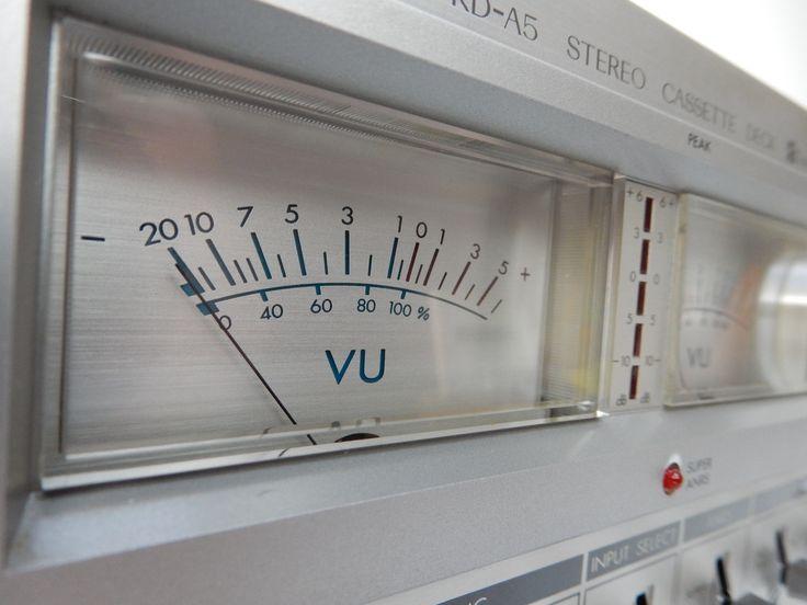 JVC cassette deck VU-meter . Still works, but now retrofitted with new digital electronics.
