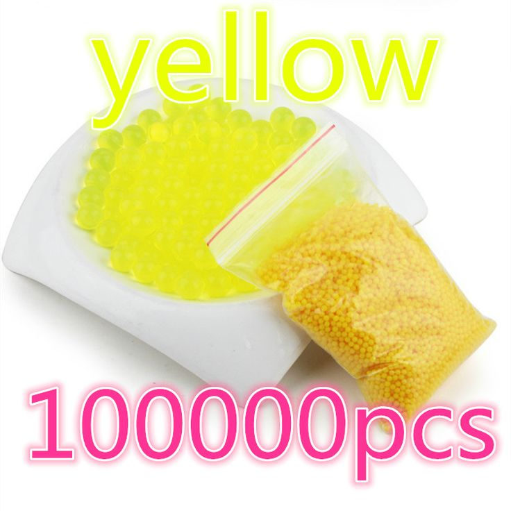100000pcs yellow brinquedo orbeez Soft Crystal Water Gun Paintball Bullet Gun Toy Nerf Bibulou  Bullet Pisol  juguetes orbeez #Affiliate