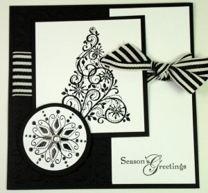 stampin up Christmas in black and white