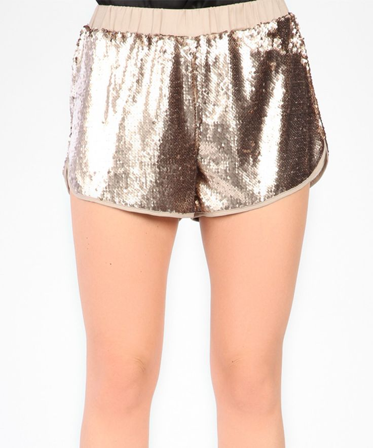 Take a look at this Matte Gold Side-Slit Shorts today!