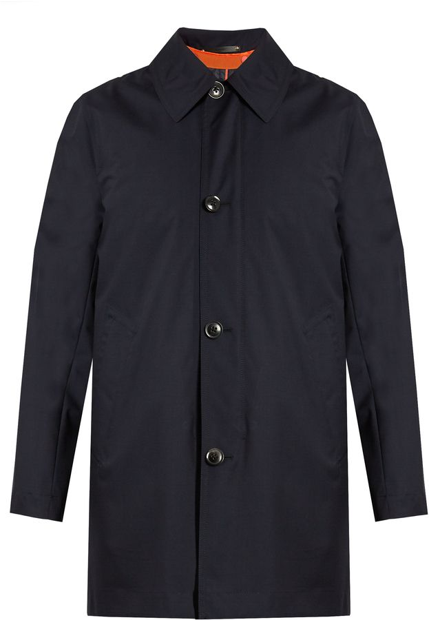 PAUL SMITH Gilet-lined wool coat