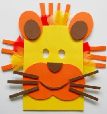 Bricolage pour enfant : masque de lion à fabriquer #masquecarnaval #masquecarnavalenfant
