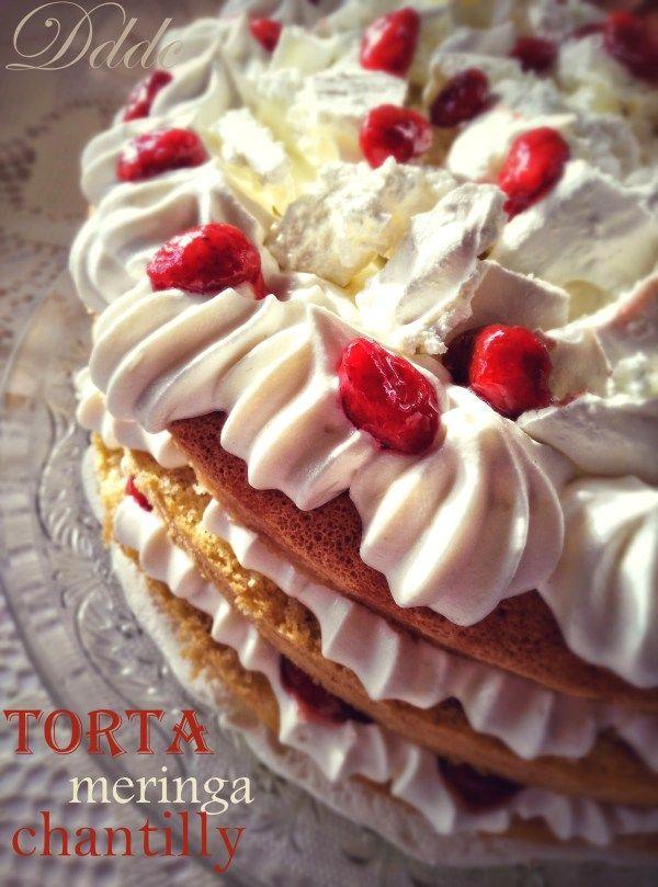 torta nuda con crema chantilly meringa e fragoline
