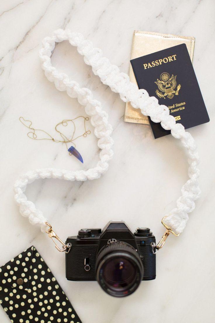Aprenda a fazer uma alça de câmera fotográfica de macramê, super fácil e simples de fazer