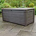 View Brightwood Wood Effect Plastic Garden Storage Box details