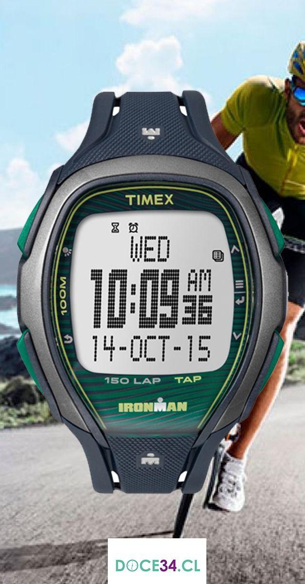 c77c8bd98cef Échale un vistazo al reloj TIMEX⌚ IROMAN TW5M09800 Este modelo cuenta con  cronómetro de