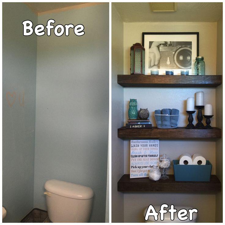 Over The Toilet Decorating Bathroom Half Remodel Bath Decor Closet