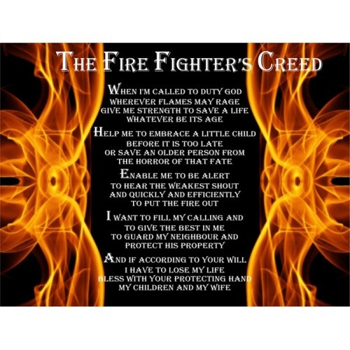 Firefighters Creed | Inspiration | Pinterest | Firefighters
