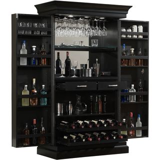 keep you wine collection neatly organized and safely stored inside this convenient ashley heights home bar wine cabinet durable front floor glides adjust