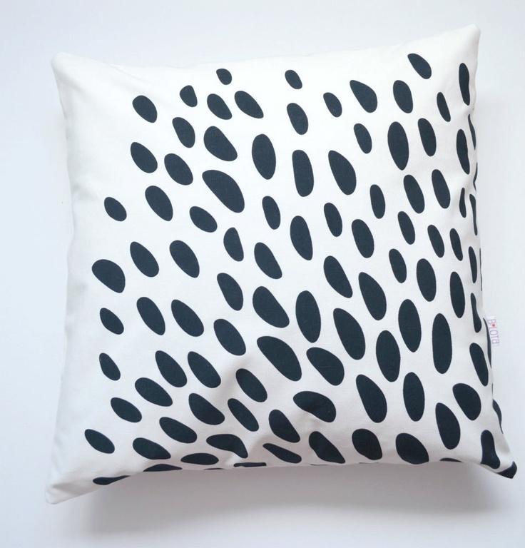 Throw Pillows Spotlight : Throw Pillow Cover - Black Spots on White Pillow covers, Throw pillow covers and Black spot