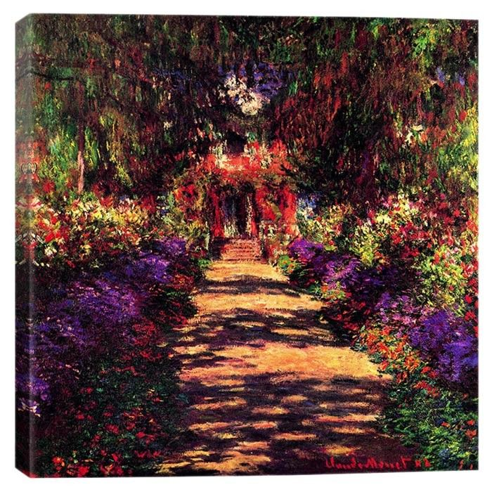 Pathway in Garden at Giverny by Monet Canvas Print