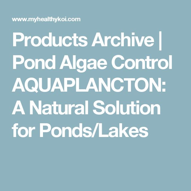 Products Archive   Pond Algae Control AQUAPLANCTON: A Natural Solution for Ponds/Lakes