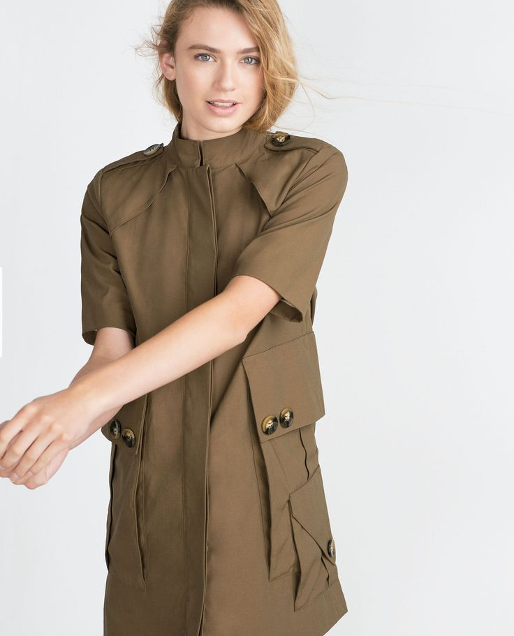 ZARA - TRF - TRENCH-STYLE DRESS  Oversized pockets, prefere wearing it as a trench