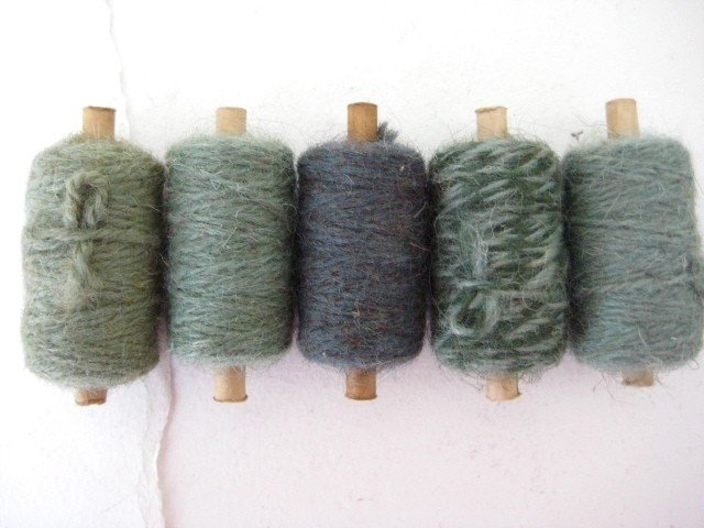 Vintage Wool tapestry spools no6 by analogueshop on Etsy