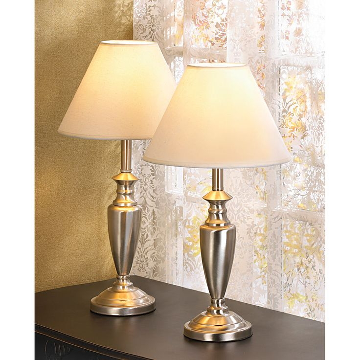 Contemporary Lamp Trio Floor Lamp and 2 End Table Lamps Set | eBay