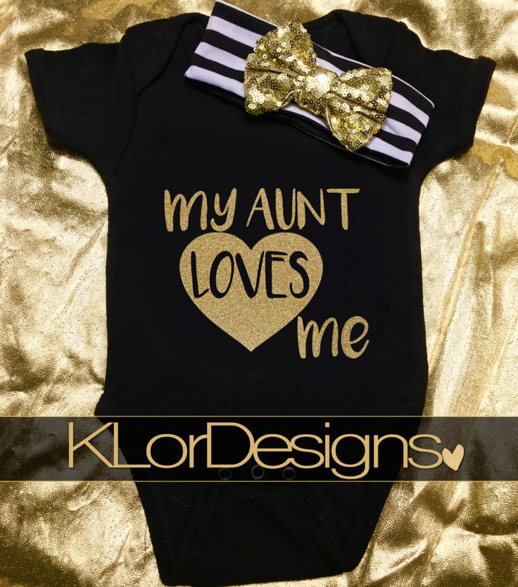 Baby Girl onesie,  My Aunt Loves Me, baby shower gift, coming home outfit, baby girl bodysuit, newborn clothing outfit,  New Aunt Gift by KLorDesigns on Etsy https://www.etsy.com/listing/289446621/baby-girl-onesie-my-aunt-loves-me-baby