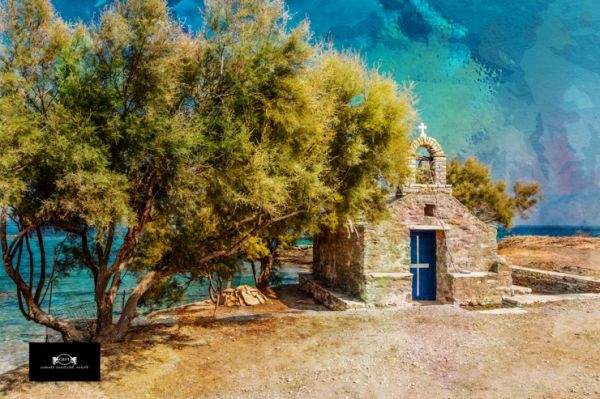 Small church at Moutsouna Bay