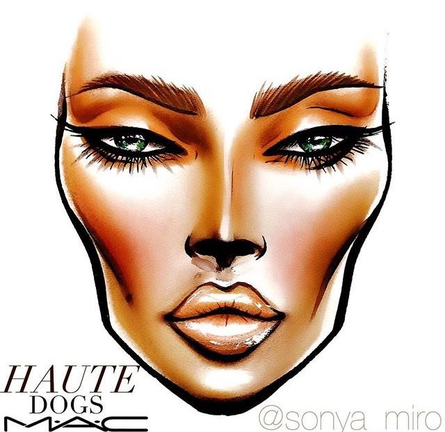 Haute Dogs MAC Collection Face Chart