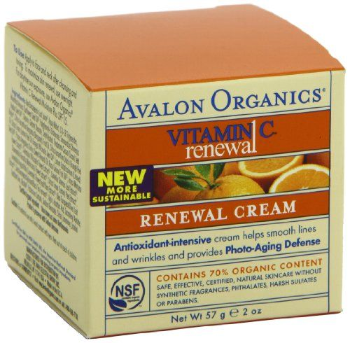 Avalon Organics Vitamin C Renewal Creme , 2-Ounce Bottle (Pack of 2)