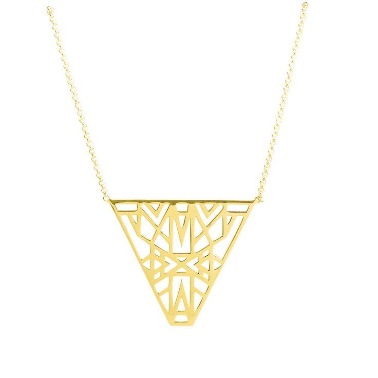 """Sautoir / Collier """"Lunéa"""" - Vélizance - Argent doré  #Bijoux #Jewels #Silver #Gold #Design #Tendance #Bijou #FashionJewelry #Velizance"""