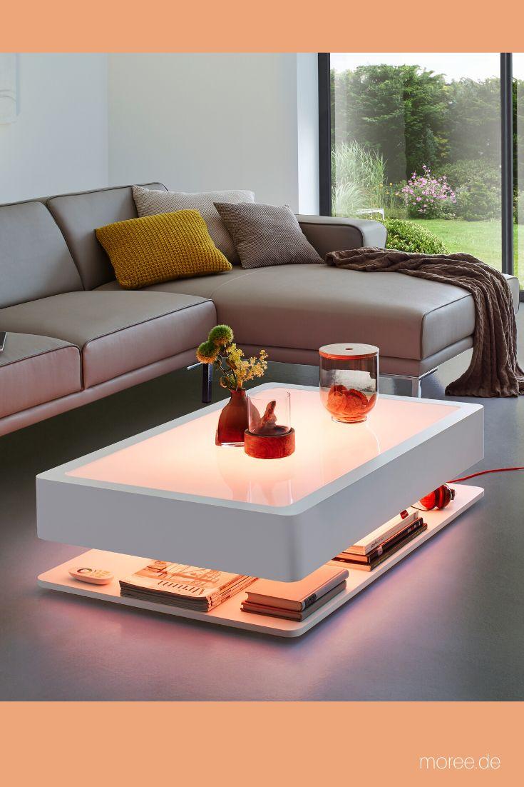 Couchtisch Beleuchtet Ora Home Led Pro Led Beleuchtung Integriert Couchtisch Led Couchtisch Wohnzimmertisch