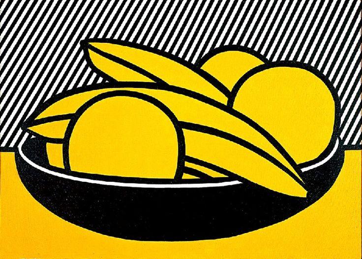 Les bananes et pamplemousses (1972), huile de Roy Lichtenstein (1923-1997, United States)