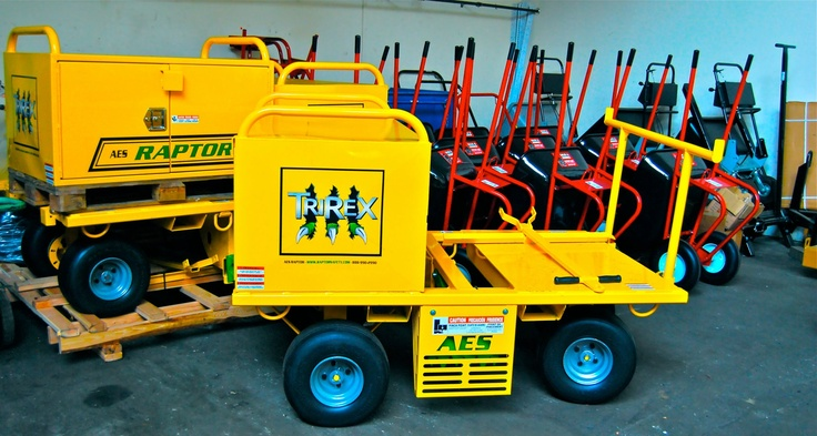 AES Raptor TriRex Fall Protection Carts, Tilt Proof