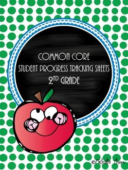 Common Core Student Progress Tracking Sheets for 2nd grade. A must have for anyone using the Common Core State Standards along with Standard Based Report Cards! $