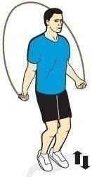 Тренировка со скакалкой.