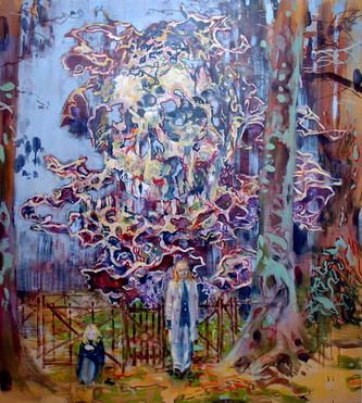 dominic shepherd --et-in-arcadia-ego--oil-on-canvas-102x92cm-2006 - CHARLIE SMITH GALLERY