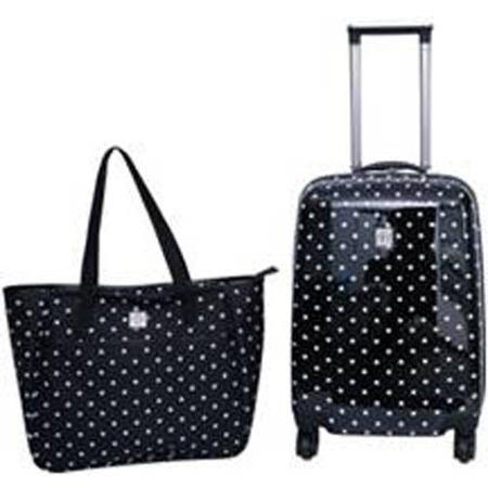Protege 2-Piece Polka Dot Hardside Luggage Set