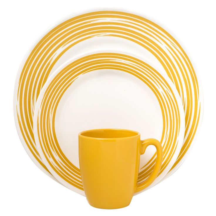 Corelle® Boutique™ Brushed 16-Pc Dinnerware Set Yellow - Shop World Kitchen  sc 1 st  Pinterest & 46 best Corelle images on Pinterest | Baking center Dish sets and ...