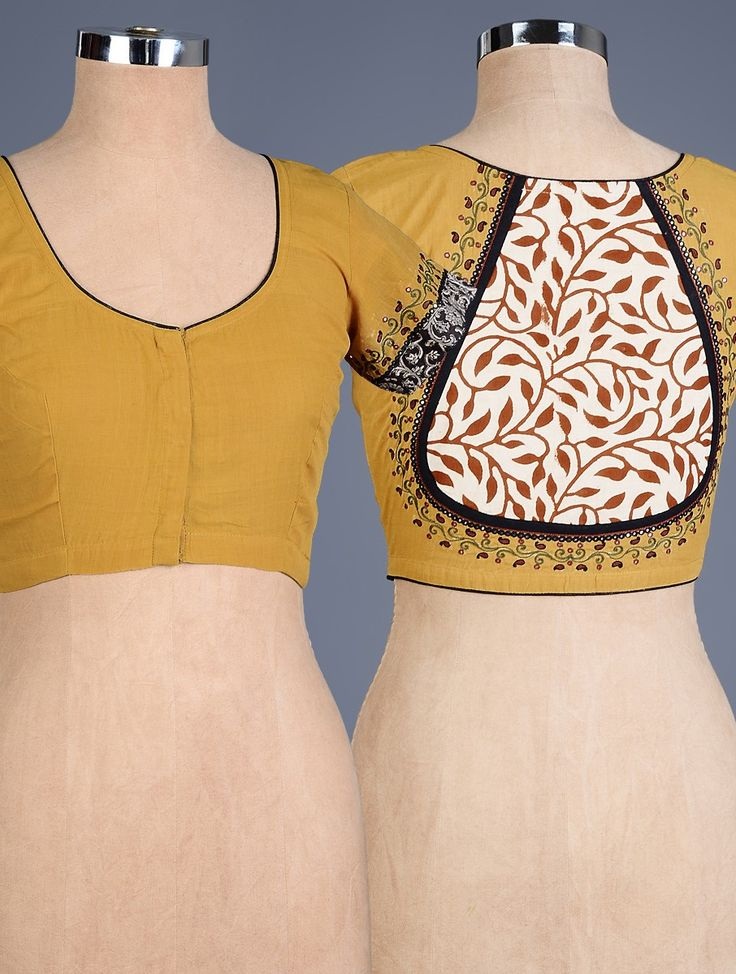 Buy Mustard Multi Color Embroidered Cotton Blouse Apparel Tops & Dresses Simple Pleasures Hand Blouses Online at Jaypore.com
