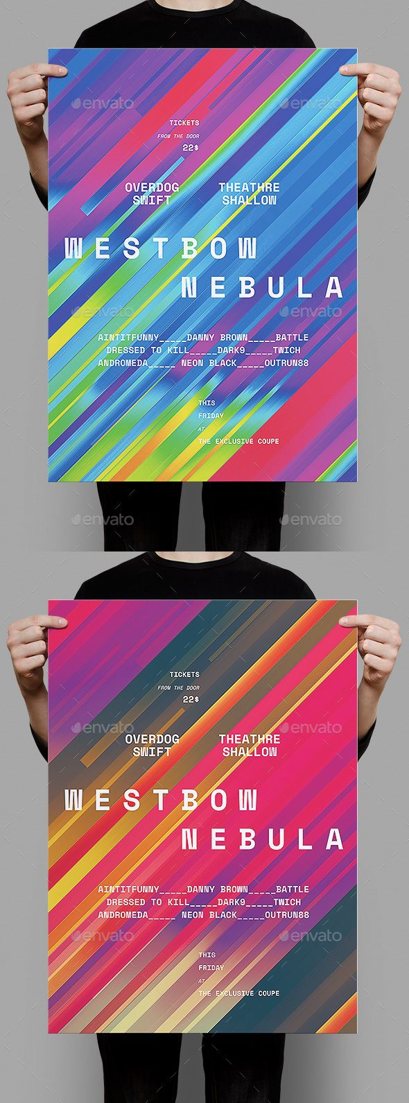 Westbow Nebula Poster / Flyer - Events Flyers