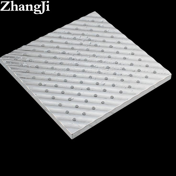Hot Waved Surface Big Rainfall Shower Head Bathroom Chrome Square High Pressure Shower Head Water Saving Silica Gel Holes ZJ033 #Affiliate