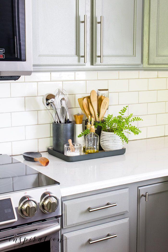 Summer Home Tour 2019 Part 1 Kitchen Counter Decor Home Decor Kitchen Elegant Kitchens