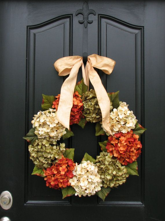 Wreaths Hydrangea Wreaths Wreaths for All by twoinspireyou: