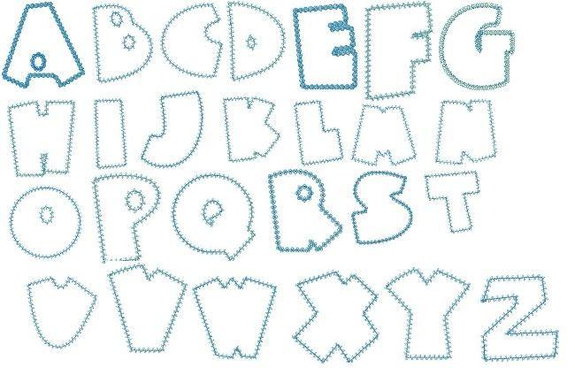 Outline Alphabet Letter Patterns