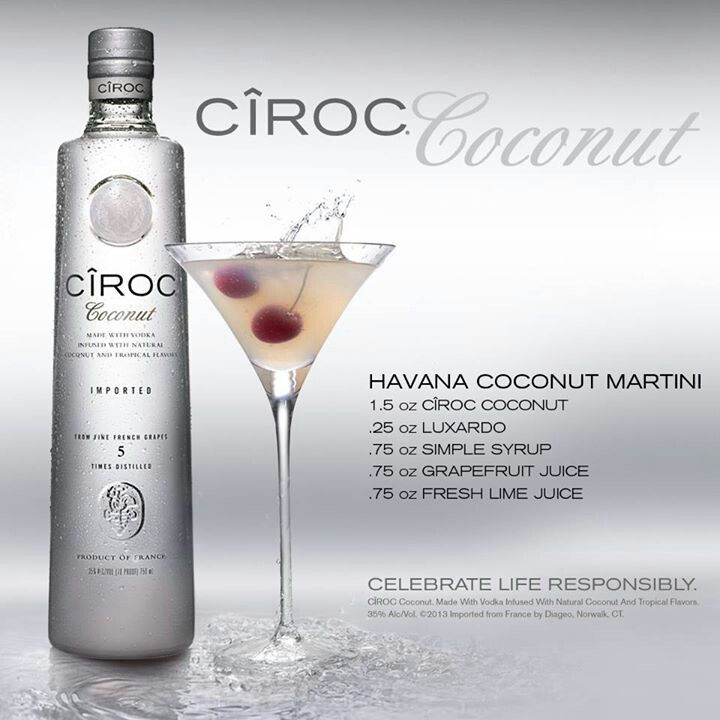 Havana Coconut Martini | Ciroc Coconut