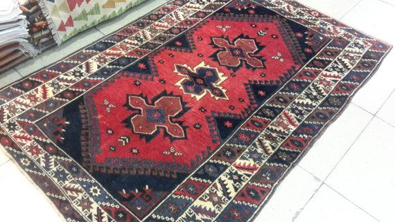 6.2 by 4.1 feet. Turkish old carpet. Vintage by turkishrugman