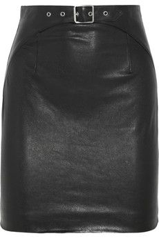 Saint Laurent Leather mini skirt | NET-A-PORTER send to peter