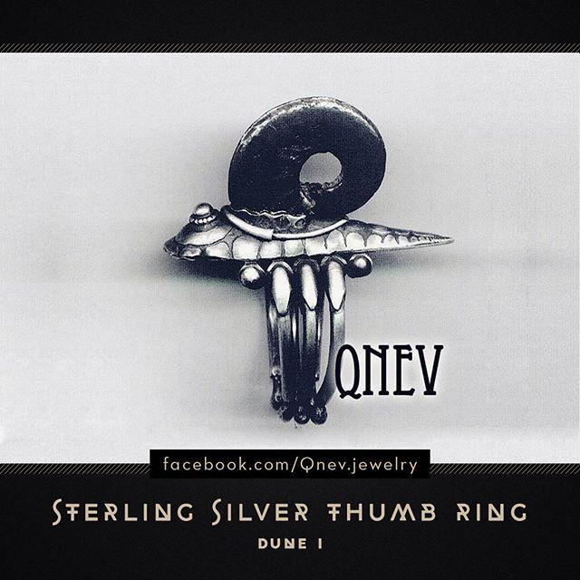Thumb ring. Sterling Silver, Ammonite.  #thumbring #sterlingsilver #ammonite #jewelrydesign #jewelrydesigner #jewellery #jewelry #metalwork #artwork #silverring #mythe #lemythe #dune #homemadejewelry #fantasyart #fantasy #420 #fantasyjewelry