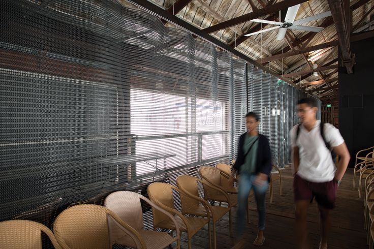 Kaynemaile Architectural Mesh Custom Folding Screen Shed 10 Auckland