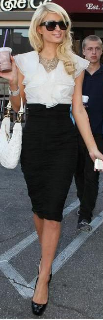 Paris Hilton looking very smart.